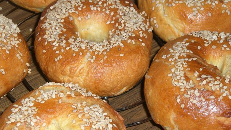 Fresh bagels available at Tandem