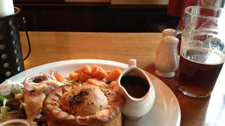 Steak and Ale Pie at the Pub