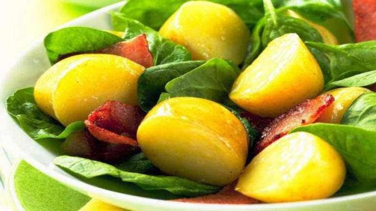 Warm Spinach-Potato Salad