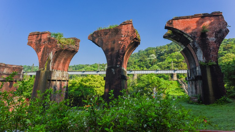 Lungteng Bridge in Miaoli, Taiwan