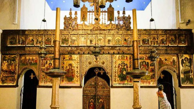Inside Church of the Holy Archangels