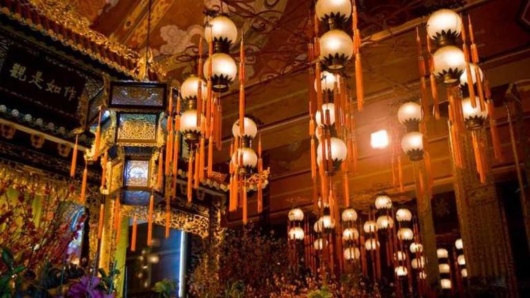 Interior of Po Lin Monastery
