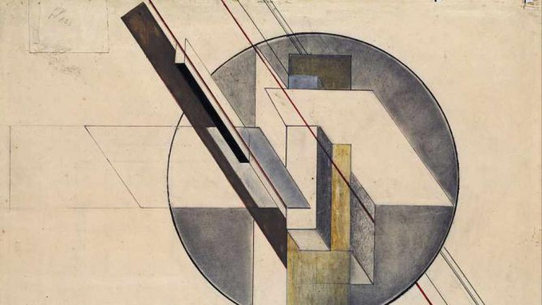 """Construction"" (1921) by Gustav Klutsis - Latvian National Museum of Art"