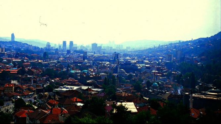 View over Sarajevo Old Town