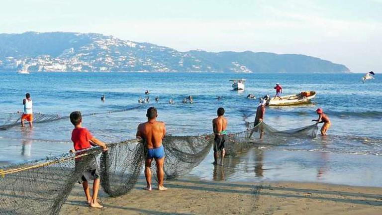 Fishermen in Acapulco