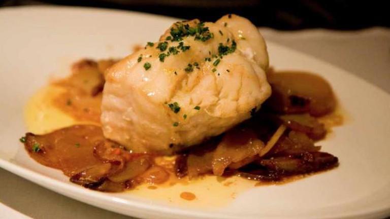 Monkfish with Potatoes at Petit Comité
