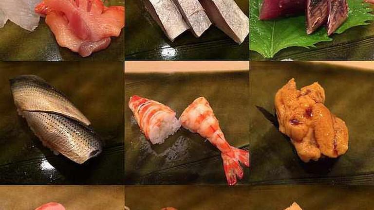 Sashimi & Sushi snapshots from Sukiyabashi