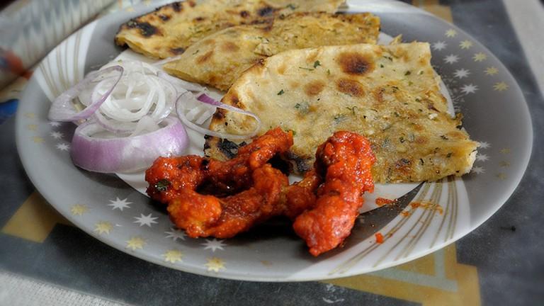 Crunchy Honey Dipped Chicken + Paneer Kulcha