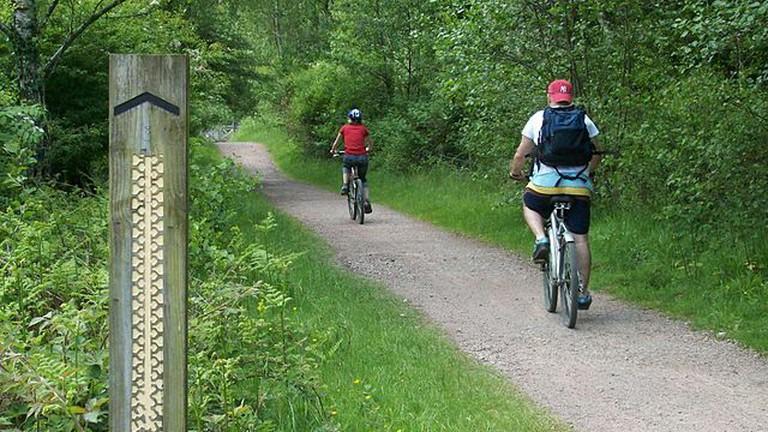 Following a bike trail