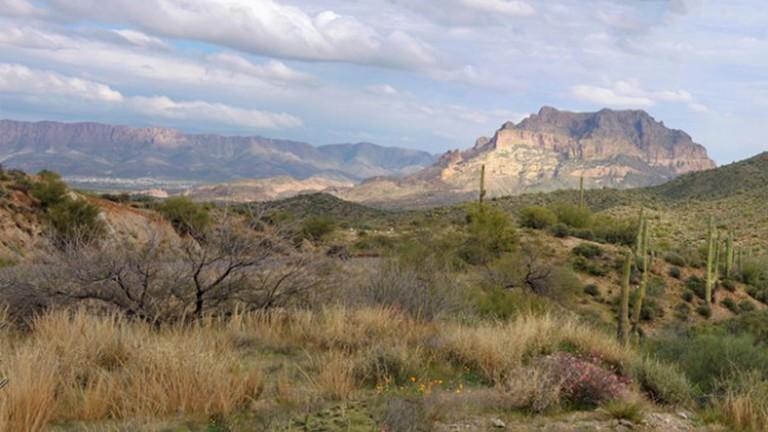 Panorama of Superstition Mountain, Arizona