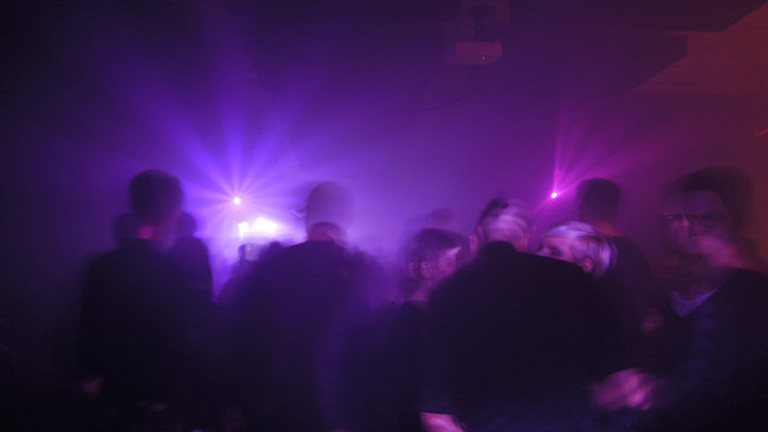 Clubbers in Berlin Nightclub