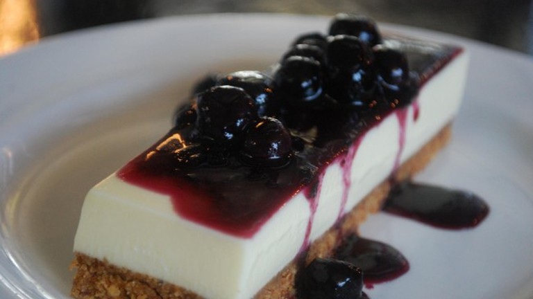 Goats Curd Cheese Cake, photo by Julia