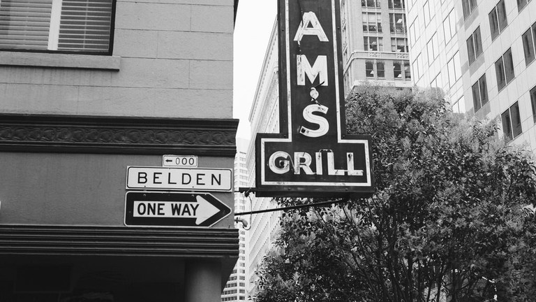 The sign outside Sam's Grill