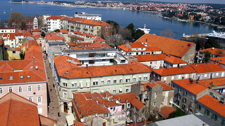 Red roofs of old town Zadar