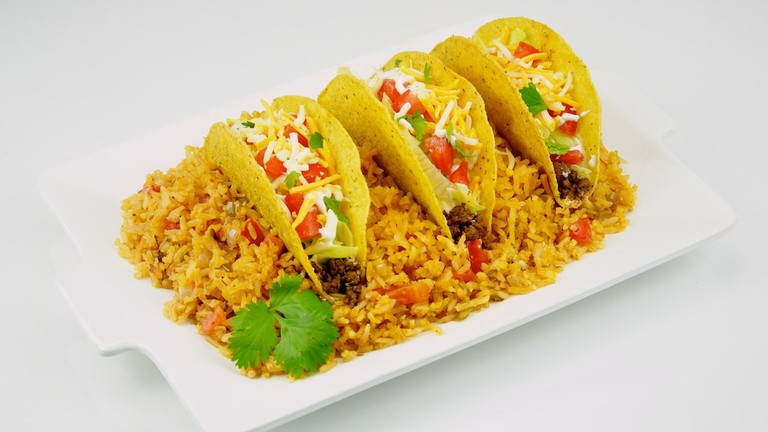 Tacos and Spanish Rice