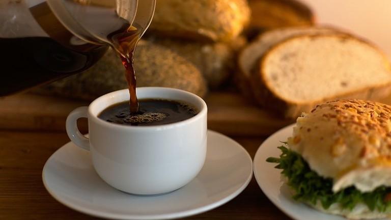 Coffee and Sandwich via Pixabay