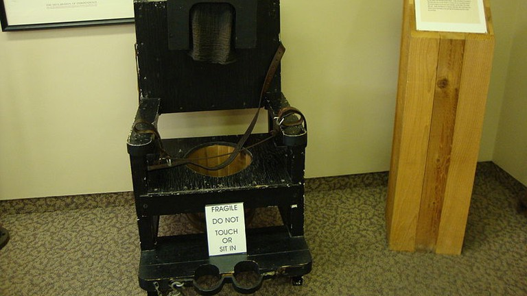 'Tranquility Chair' at Glore Psychiatric Museum