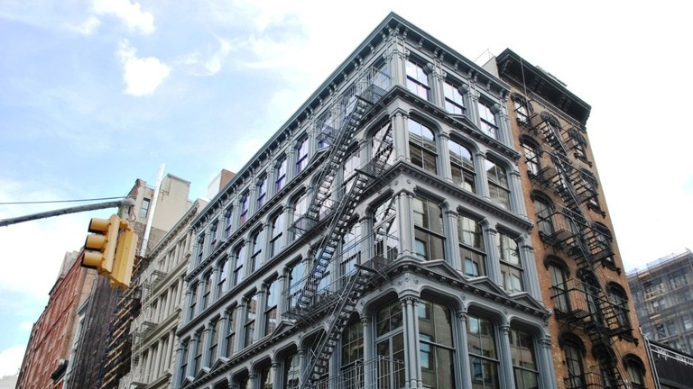 The Donald Judd House and Museum, 101 Spring Street, a five-story cast-iron building, designed in 1870.