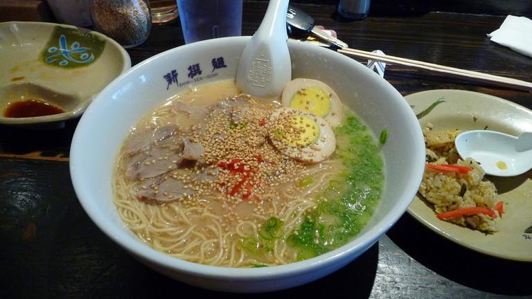 A bowl of ramen at Shin-Sen-Gumi