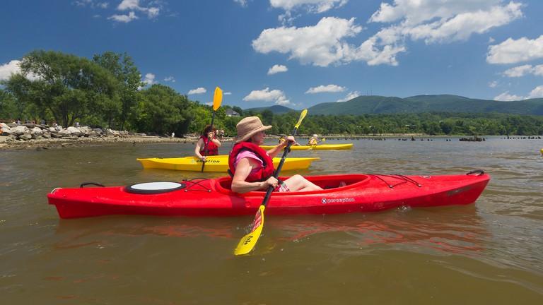 Kayaking from Long Dock Park on the Hudson River