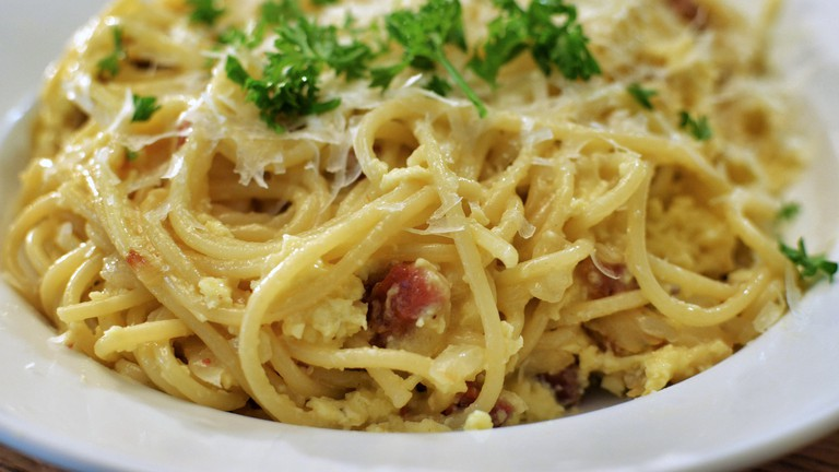 Mmm... spaghetti carbonara