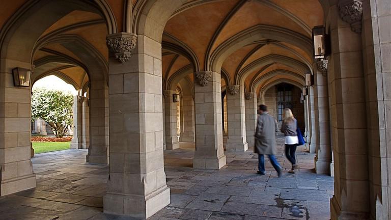 Melbourne University cloisters