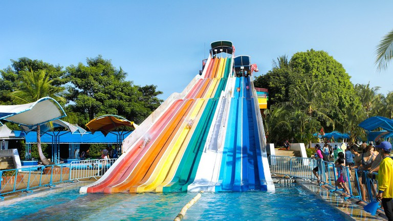 Water Slide At Siam City Park