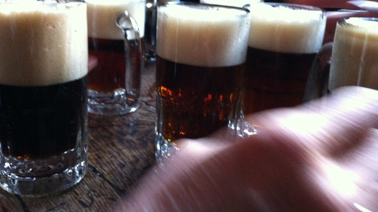 Beer Table at McSorley's Old Ale House