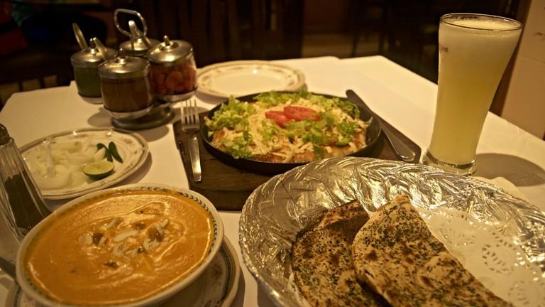 Shahi Paneer, Pizza Dosa, and Pineapple Punch at Dosa King