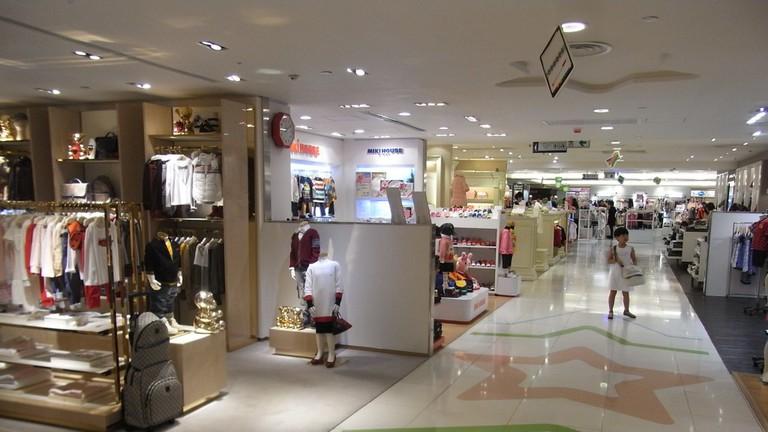 Inside a Sogo store in Causeway Bay, Hong Kong