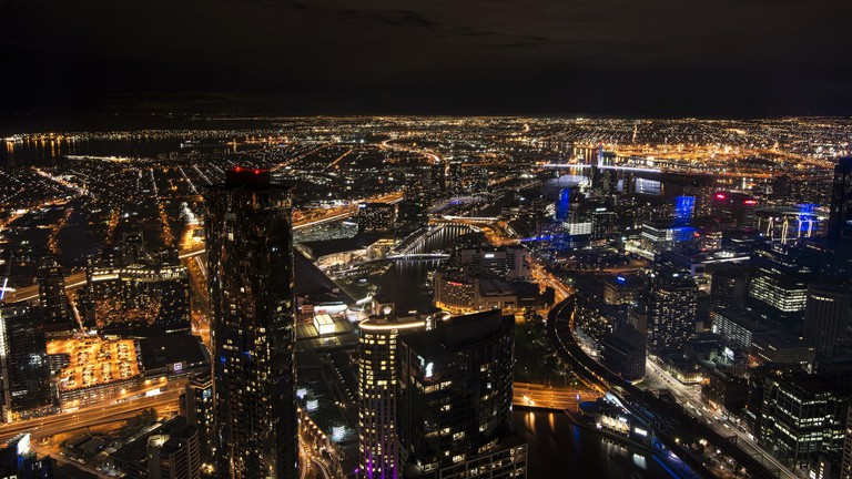 Nighttime views from Eureka Skydeck