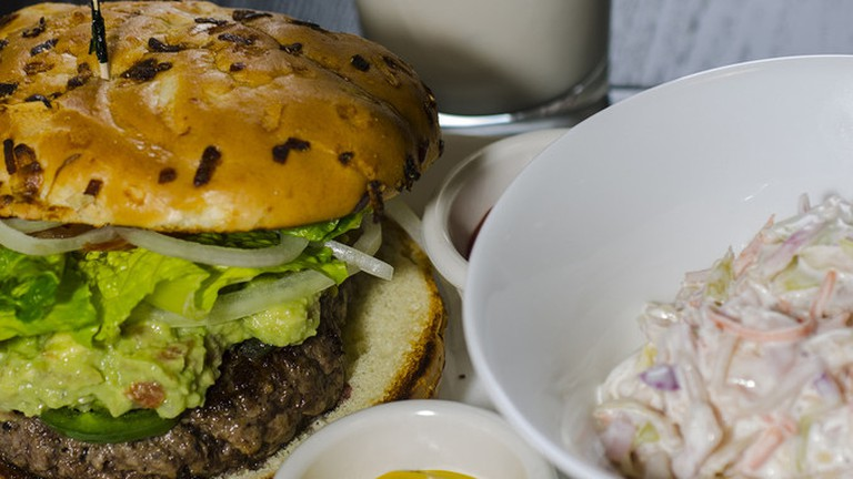 Burger and a shake