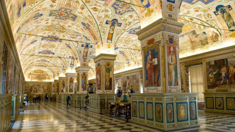 The sublime halls of Rome's Vatican Library