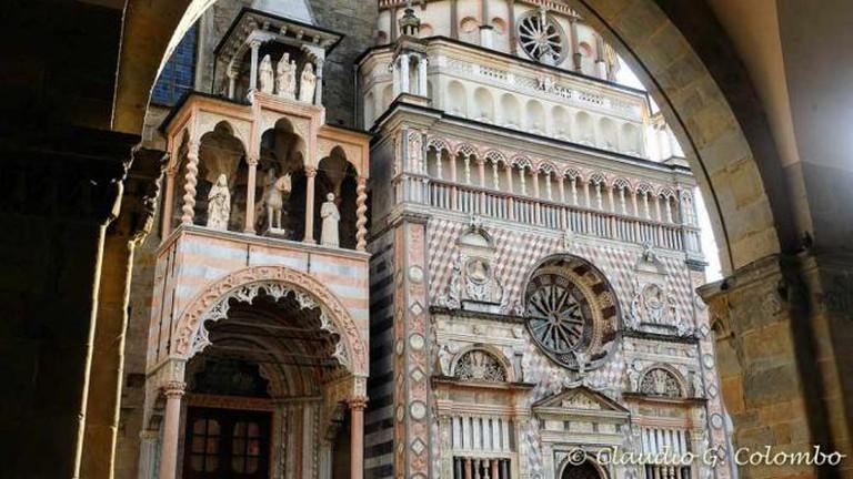 The façade of Cappella Colleoni