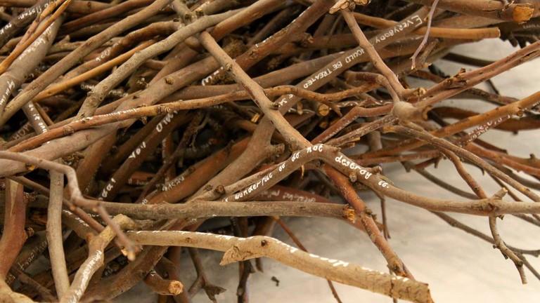 Aboriginal Art Made From Sticks