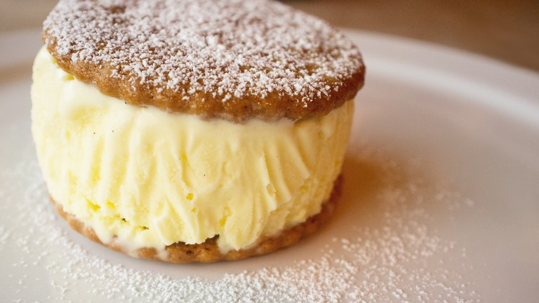 Try a delicious ice cream cookie sandwich