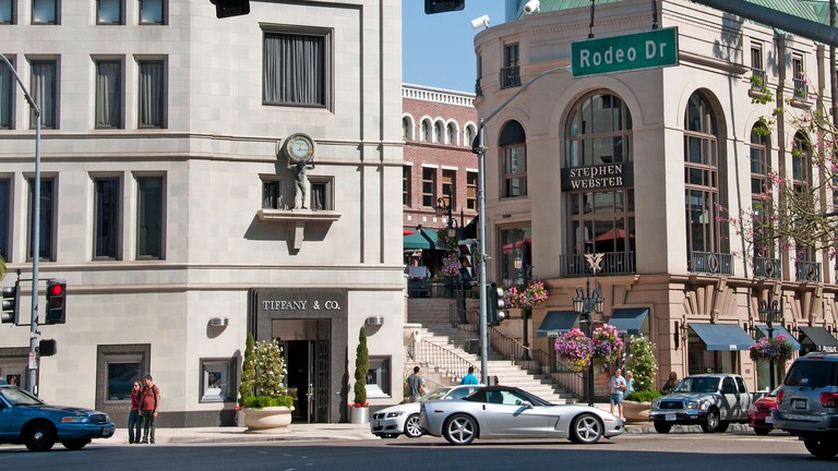 Rodeo Drive boutiques shops Beverly Hills Los Angeles California United States