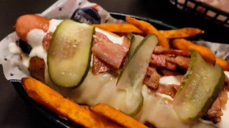 The Diner offers American fare, such as burgers and hotdogs