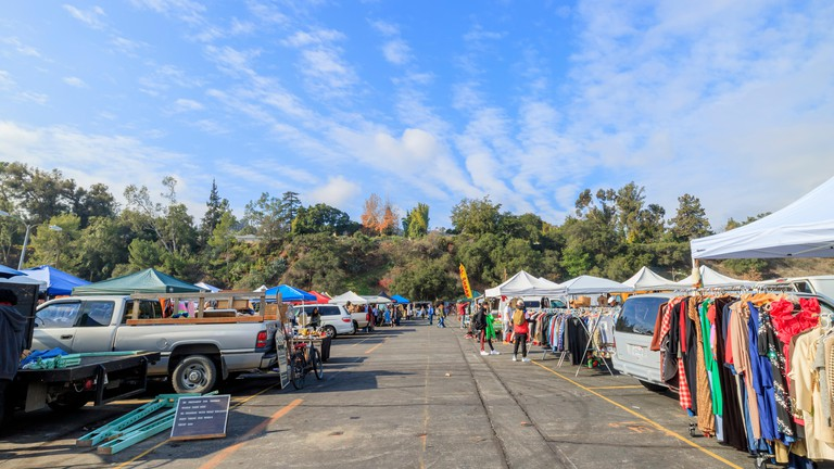 The Rose Bowl Flea Market's vendors sell a variety of items