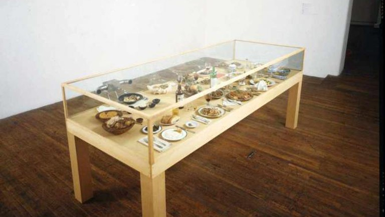 Roxy Paine's Dinner of the Dictators at the Katonah Museum of Art