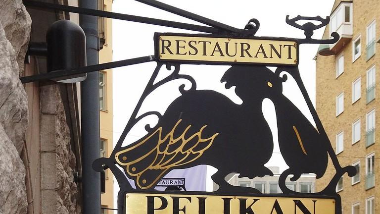 Pelikan's famous sign
