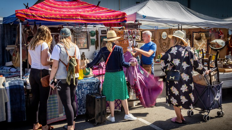 The Santa Monica Airport Outdoor Antique & Collectible Market runs on the first and fourth Sunday of every month