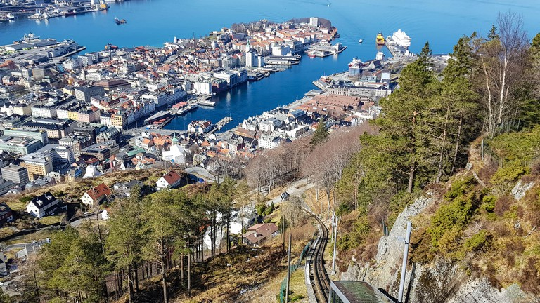 Bergen from the Perspective of Mount Floyen