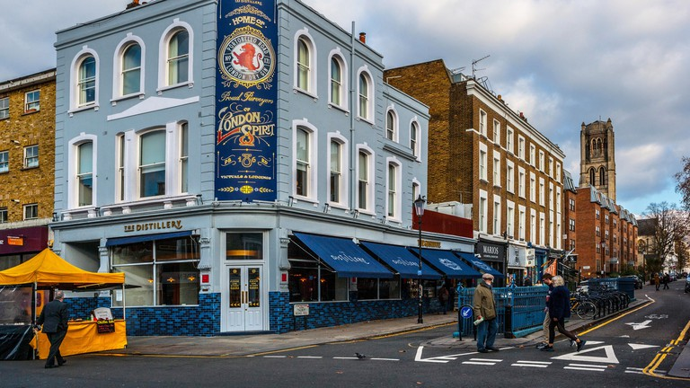 The Distillery, modern gin palace and hotel, Portobello Road, Notting Hill.