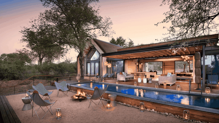 The Fish Eagle Villa swimming pool and fire deck