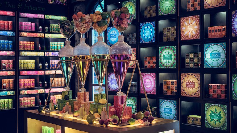 Colorful packaging design at Spa Ceylon