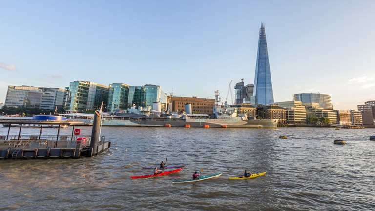 Kayaking in the Thames