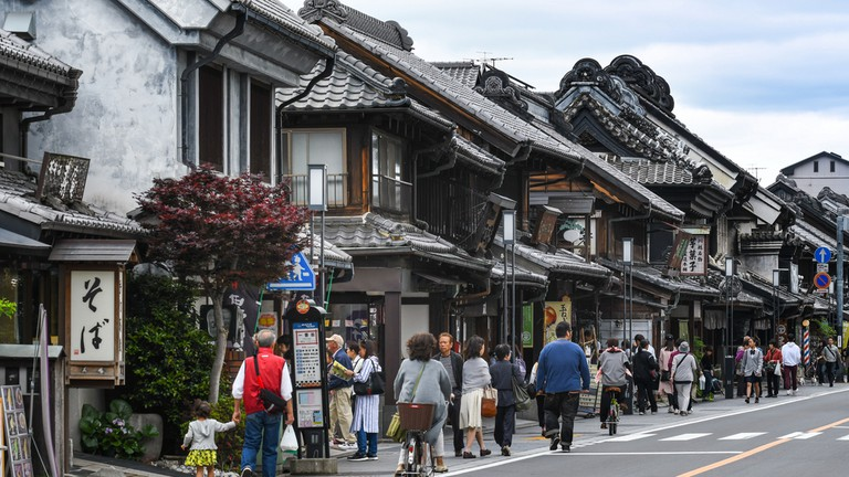 The streets of Kawagoe are lined with converted Edo-era warehouses