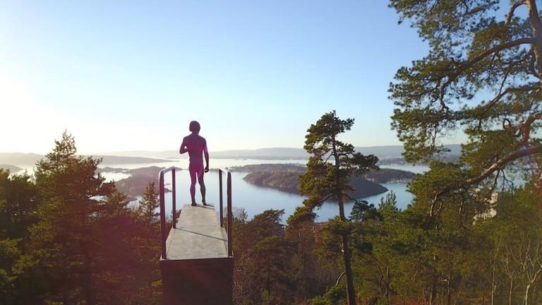 The iconic statue:viewpoint at Ekeberg park, Courtesy of Ekebergparken
