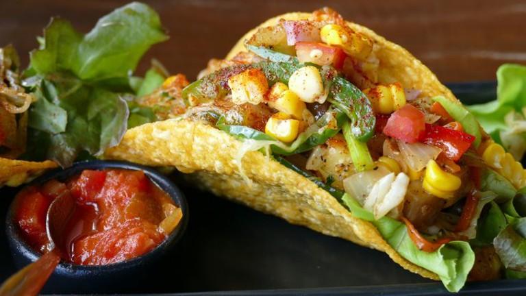 Veggie tacos on the menu at